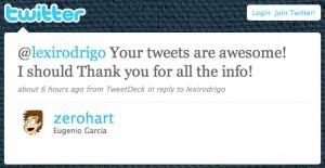 Zerohart Twitter Testimonial