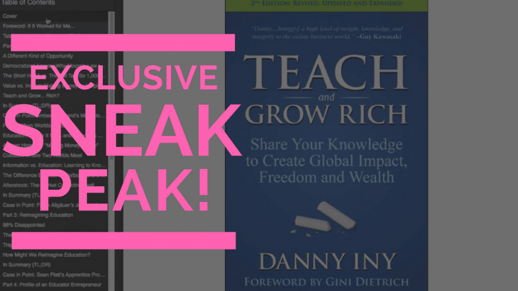 Teach and Grow Rich, Danny Iny