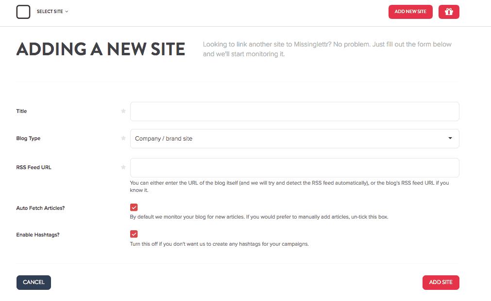 Missinglettr link new site