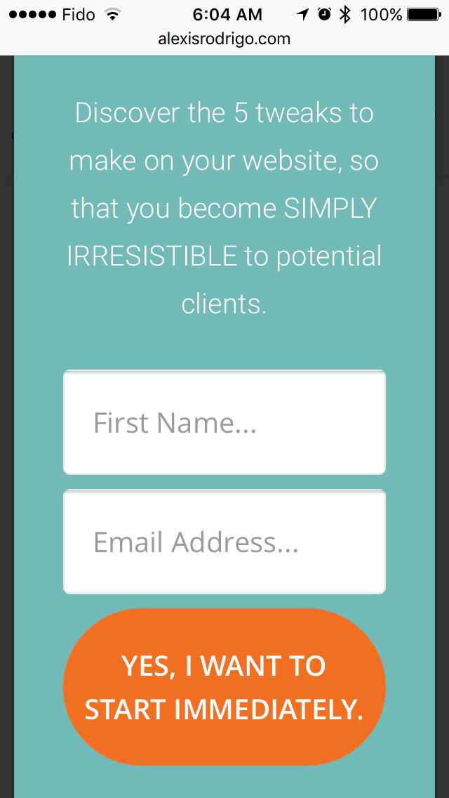 Thrive Leads mobile responsive forms