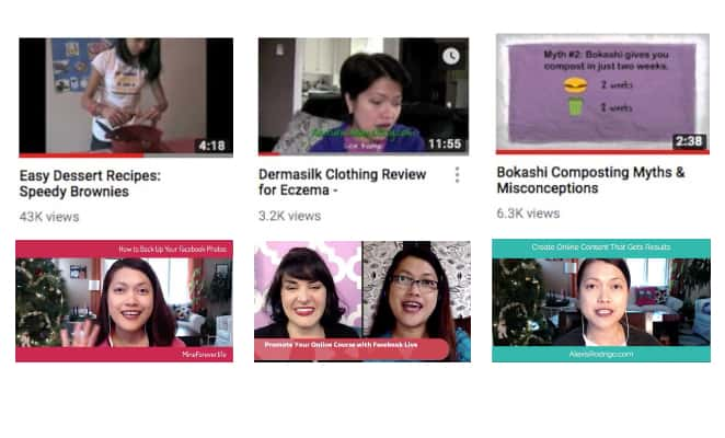 Lexi Rodrigo's video thumbnails