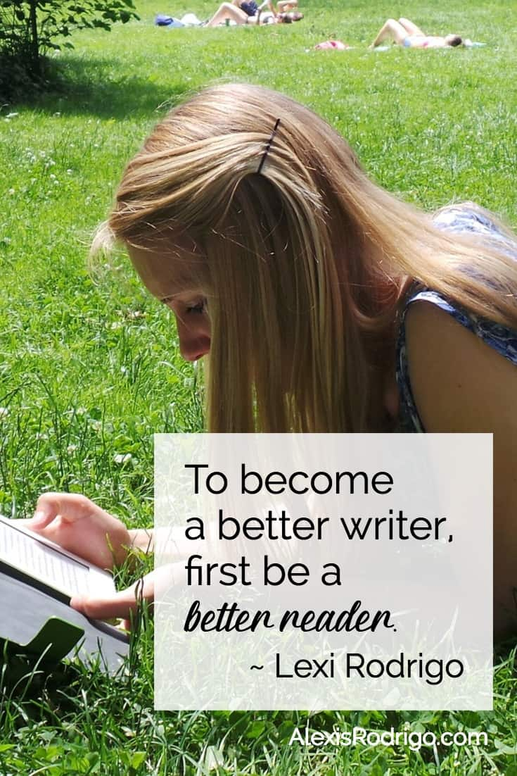 How to become a better writer - read better quote