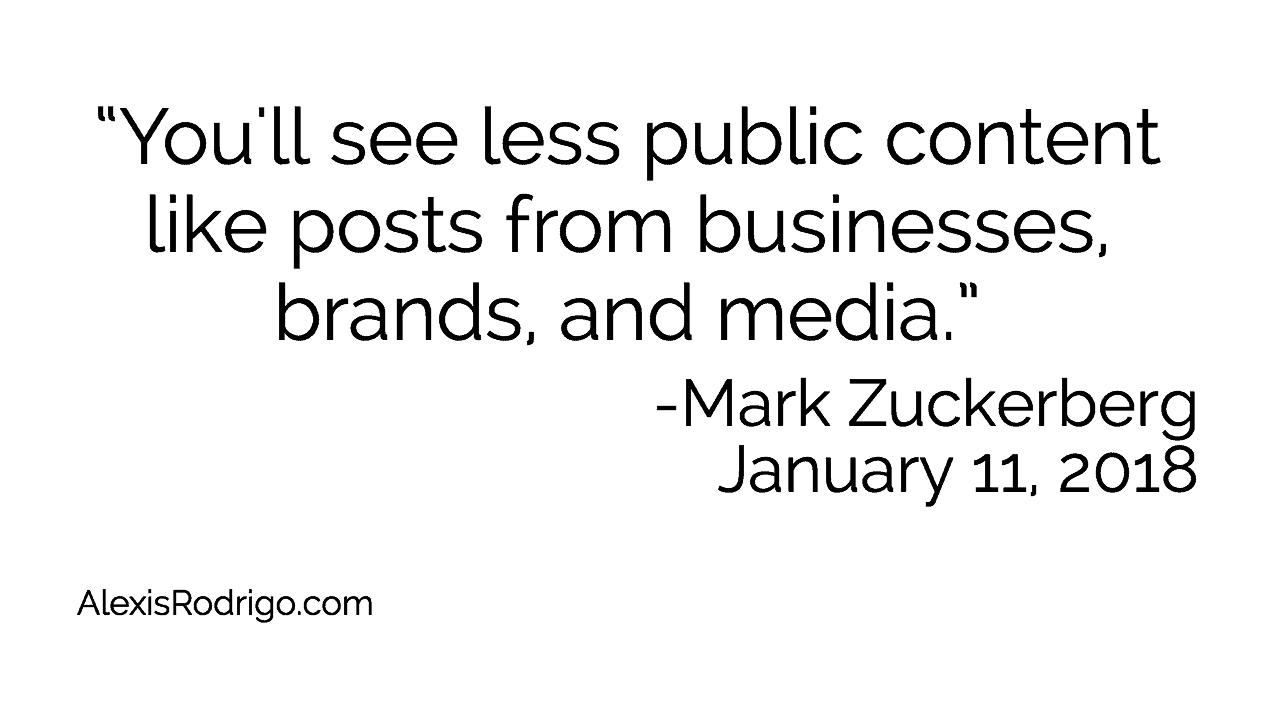 Mark Zuckerberg January 11 Post