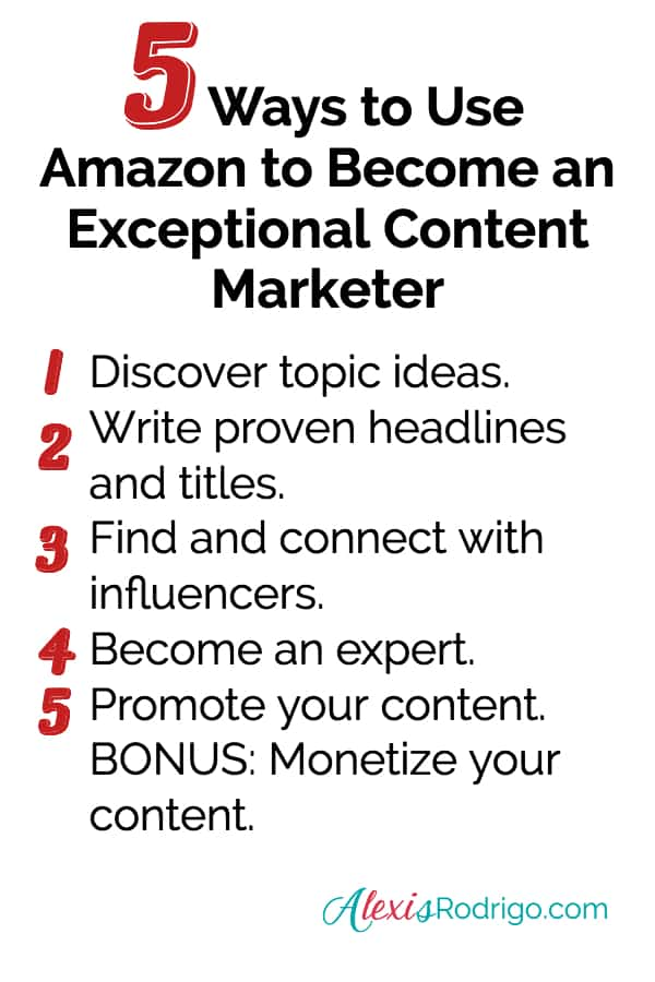 Amazon content marketing Pinterest