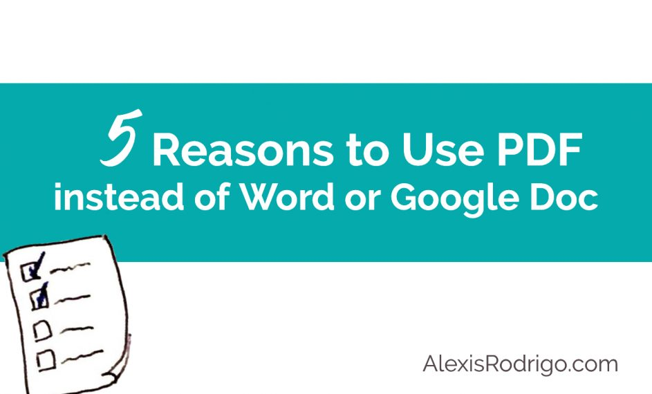 5 Reasons to Use PDF