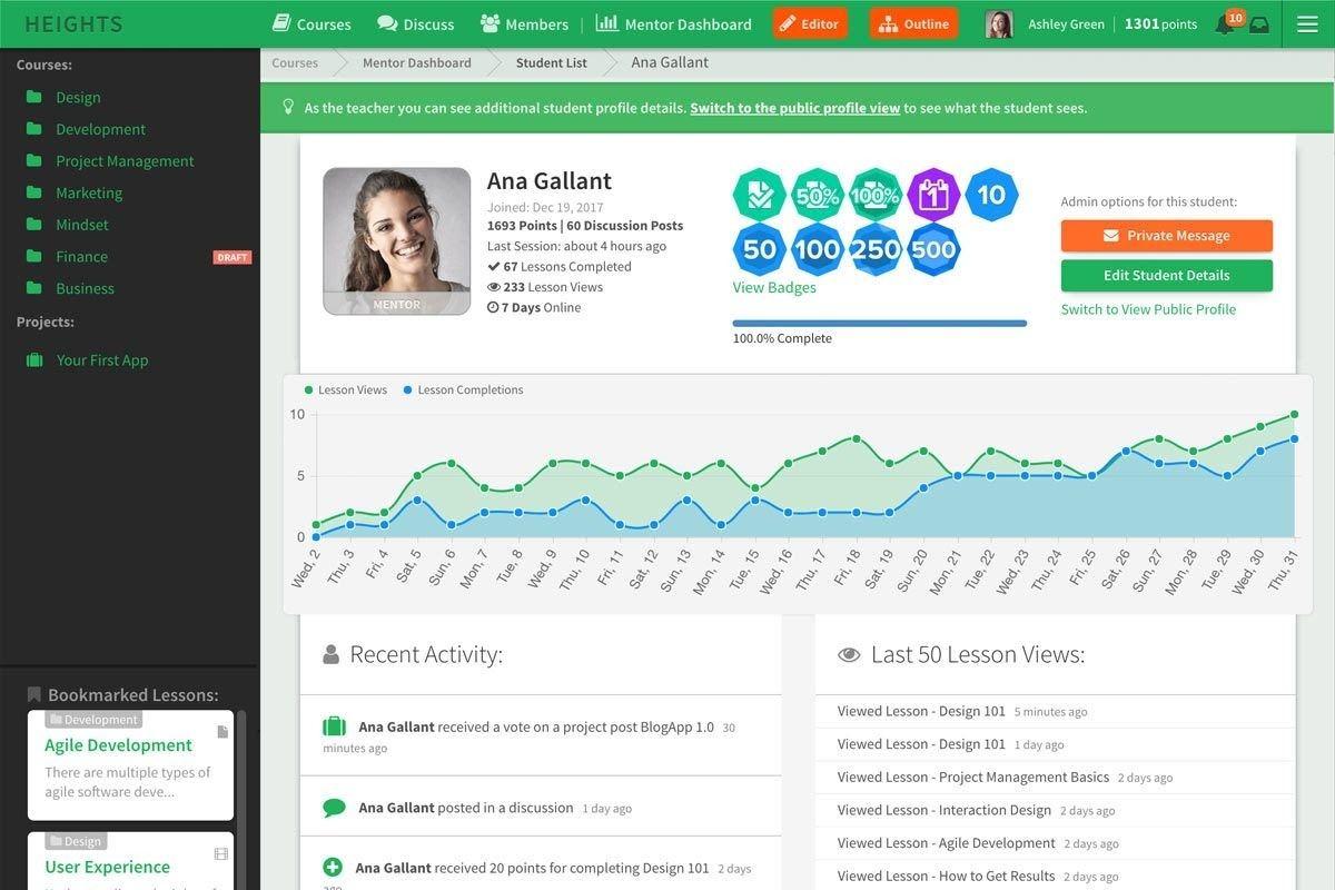 Heights Online Course Platform